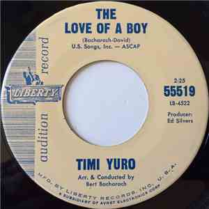 Timi Yuro - The Love Of A Boy / I Aint Gonna Cry No More mp3 download